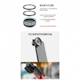 APEXEL Lensa Kamera Smartphone Universal Clip 10X Macro Lens - APL-HD5M - Black - 4