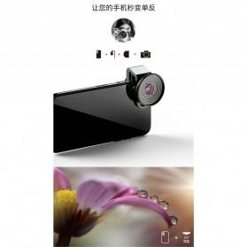 APEXEL Lensa Kamera Smartphone Universal Clip 10X Macro Lens - APL-HD5M - Black - 5