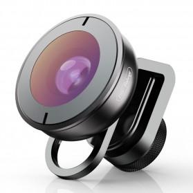 APEXEL Lensa Kamera Smartphone Universal Clip 195 Fisheye Lens - APL-HD5F - Black