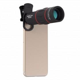 APEXEL 4 in 1 Lensa Fisheye + Macro + Wide Angle + Telephoto Lens Kit + Switchpod Mini Tripod - APL-T16XJJ04 - Black - 2
