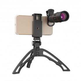 APEXEL 4 in 1 Lensa Fisheye + Macro + Wide Angle + Telephoto Lens Kit + Switchpod Mini Tripod - APL-T16XJJ04 - Black - 3