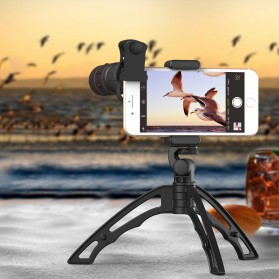 APEXEL 4 in 1 Lensa Fisheye + Macro + Wide Angle + Telephoto Lens Kit + Switchpod Mini Tripod - APL-T16XJJ04 - Black - 5