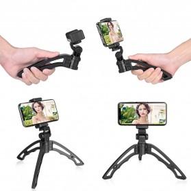 APEXEL 4 in 1 Lensa Fisheye + Macro + Wide Angle + Telephoto Lens Kit + Switchpod Mini Tripod - APL-T16XJJ04 - Black - 9