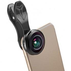 APEXEL Lensa Kamera Smartphone Fisheye 238 Degree Full Frame - APL-238F - Black
