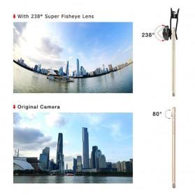 APEXEL Lensa Kamera Smartphone Fisheye 238 Degree Full Frame - APL-238F - Black - 2