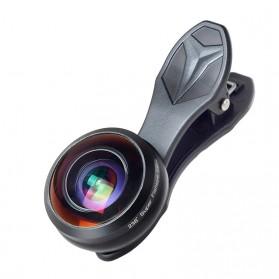 APEXEL Lensa Kamera Smartphone Fisheye 238 Degree Full Frame - APL-238F - Black - 6