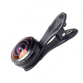 APEXEL Lensa Kamera Smartphone Fisheye 238 Degree Full Frame - APL-238F - Black - 7