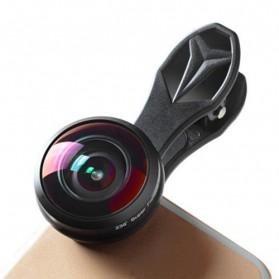 APEXEL Lensa Kamera Smartphone Fisheye 238 Degree Full Frame - APL-238F - Black - 8