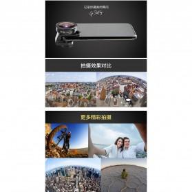APEXEL Lensa Kamera Smartphone Universal Clip 170 Super Wide Angle Lens - APL-HD5SW - Black - 3