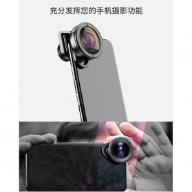 APEXEL Lensa Kamera Smartphone Universal Clip 170 Super Wide Angle Lens - APL-HD5SW - Black - 4