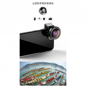 APEXEL Lensa Kamera Smartphone Universal Clip 170 Super Wide Angle Lens - APL-HD5SW - Black - 5