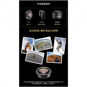APEXEL Lensa Kamera Smartphone Universal Clip 170 Super Wide Angle Lens - APL-HD5SW - Black - 7