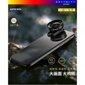 APEXEL Lensa Kamera Smartphone Universal Clip 110 Wide Angle Lens - APL-HD5W - Black - 3