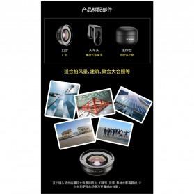 APEXEL Lensa Kamera Smartphone Universal Clip 110 Wide Angle Lens - APL-HD5W - Black - 4
