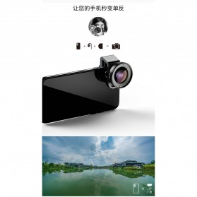 APEXEL Lensa Kamera Smartphone Universal Clip 110 Wide Angle Lens - APL-HD5W - Black - 6