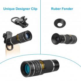 APEXEL Lensa Telephoto Lens Kit 20x + SwitchPod Mini Tripod - APL-T20XJJ04 - Black - 6