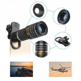 APEXEL Lensa Telephoto Lens Kit 20x + SwitchPod Mini Tripod - APL-T20XJJ04 - Black - 7
