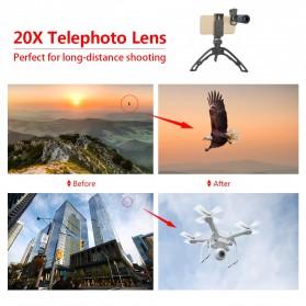 APEXEL Lensa Telephoto Lens Kit 20x + SwitchPod Mini Tripod - APL-T20XJJ04 - Black - 8