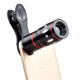 APEXEL 4 in 1 Lensa Fisheye + Macro + Wide Angle + Telephoto + Mini Tripod + Bluetooth Shutter - APL-10XDG3ZJ - Black - 3