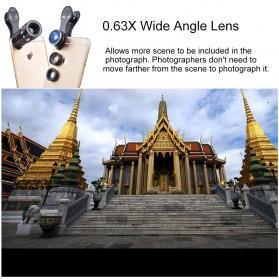 APEXEL 4 in 1 Lensa Fisheye + Macro + Wide Angle + Telephoto + Mini Tripod + Bluetooth Shutter - APL-10XDG3ZJ - Black - 6