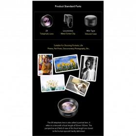 APEXEL Lensa Kamera Smartphone Universal Clip 2X Telephoto Lens - APL-HD5T - Black - 3
