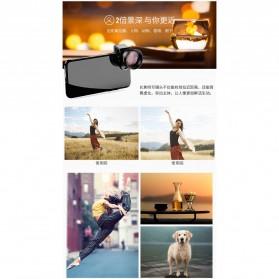 APEXEL Lensa Kamera Smartphone Universal Clip 2X Telephoto Lens - APL-HD5T - Black - 6