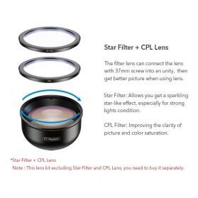 APEXEL Lensa Kamera Smartphone Universal Clip 2X Telephoto Lens - APL-HD5T - Black - 7