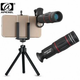 APEXEL 2 in 1 Lensa Telephoto 18X + Tripod Mini - APL-T18ZJ - Black - 1