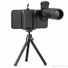APEXEL 2 in 1 Lensa Telephoto 18X + Tripod Mini - APL-T18ZJ - Black - 7