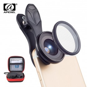 APEXEL 2 in 1 Lensa Macro + Star Filter Lens Kit - APL-25SR - Black