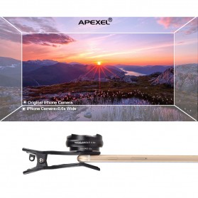 APEXEL 2 in 1 Lensa Wide Angle 0.6HD + 10x Macro Lens Kit - APL-0610WM - Black - 3