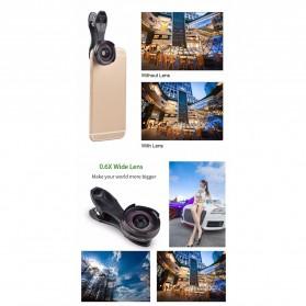 APEXEL 2 in 1 Lensa Wide Angle 0.6HD + 10x Macro Lens Kit - APL-0610WM - Black - 4