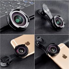 APEXEL 2 in 1 Lensa Wide Angle 0.6HD + 10x Macro Lens Kit - APL-0610WM - Black - 8