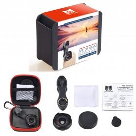 APEXEL 2 in 1 Lensa Wide Angle 0.6HD + 10x Macro Lens Kit - APL-0610WM - Black - 9