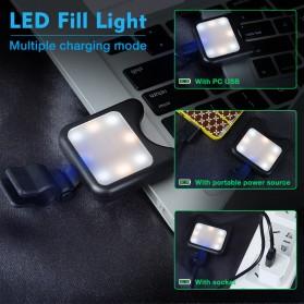 APEXEL 2 in 1 Lensa Macro + Wide Angle Lens Kit + LED Flashlight - APL-3663FL - Black - 3