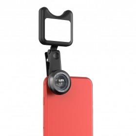 APEXEL 2 in 1 Lensa Macro + Wide Angle Lens Kit + LED Flashlight - APL-3663FL - Black - 6