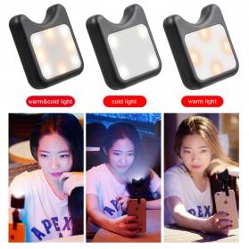 APEXEL 2 in 1 Lensa Macro + Wide Angle Lens Kit + LED Flashlight - APL-3663FL - Black - 10