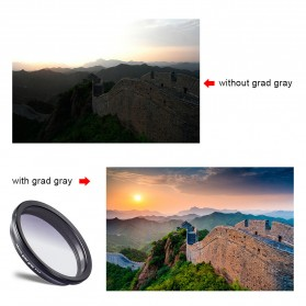 APEXEL 2 in 1 Lensa Wide Angle 10mm + Macro 10x + 4 Filter Lens Kit - APL-16MMS - Black - 5
