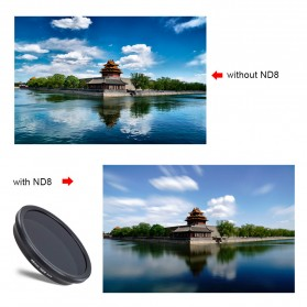 APEXEL 2 in 1 Lensa Wide Angle 10mm + Macro 10x + 4 Filter Lens Kit - APL-16MMS - Black - 6