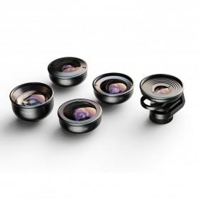 APEXEL Lensa Kamera Smartphone Universal Clip 5 in 1 Lens Kit - APL-HD5-V2 - Black - 2