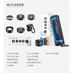 APEXEL Lensa Kamera Smartphone Universal Clip 5 in 1 Lens Kit - APL-HD5-V2 - Black - 6