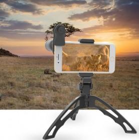 APEXEL 6 in 1 Lensa Fisheye + Macro + Wide Angle + Star Filter +Telephoto Lens Kit + Switchpod Mini Tripod - APL-JS16JJ04D5 - Black - 6