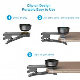 APEXEL 6 in 1 Lensa Fisheye + Macro + Wide Angle + CPL + Star Filter Lens Kit - APL-DG6 - Black - 5