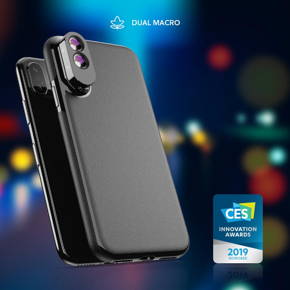 innovative design efa7b fa48e APEXEL iPhone XS Max Case with Dual Macro Lens - IPX-MC01 - Black