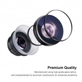 APEXEL Lensa Kamera Smartphone Super Macro Lens Kit 12x/24x - APL-24XMH - Black - 4