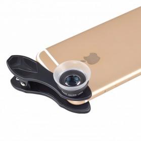APEXEL Lensa Kamera Smartphone Super Macro Lens Kit 12x/24x - APL-24XMH - Black - 6