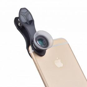 APEXEL Lensa Kamera Smartphone Super Macro Lens Kit 12x/24x - APL-24XMH - Black - 7