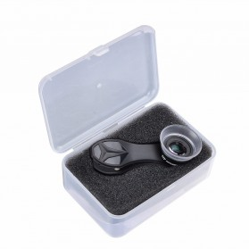 APEXEL Lensa Kamera Smartphone Super Macro Lens Kit 12x/24x - APL-24XMH - Black - 12