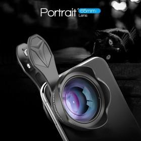 APEXEL Lensa Kamera Smartphone Telephoto HD Zoom Portrait Lens Kit 65mm - APL-65MM - Black - 5