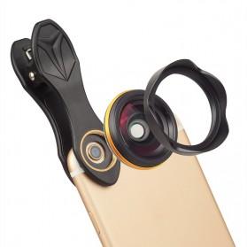 APEXEL Lensa Kamera Smartphone Wide Angle Lens Kit 15mm - APL-15MM - Black